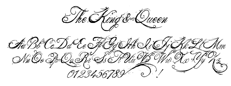 Grunge: The King and Queen font