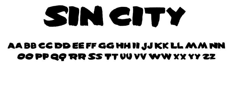 Pop: Sin City (Sin City) font