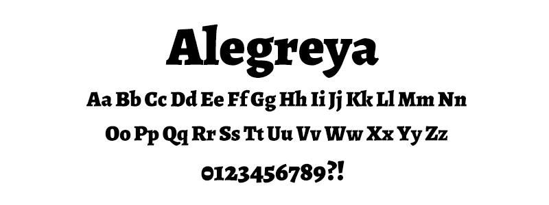 Serif: Alegreya font