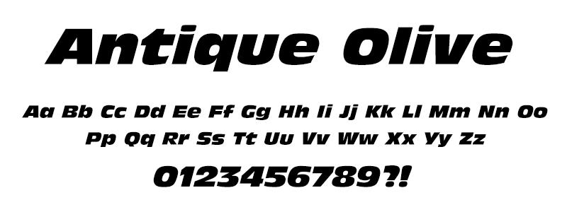 Pop: Antique Olive (Fast & Furious) font