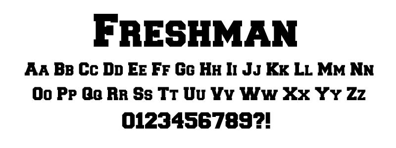 Serif: Freshman Font