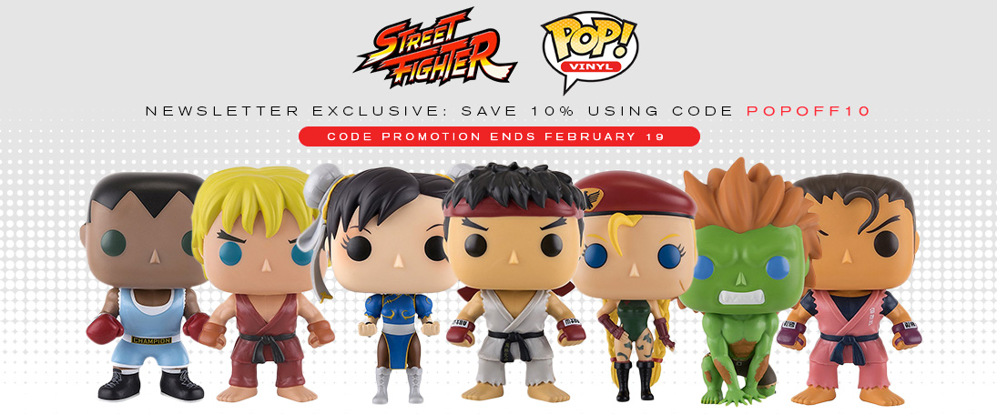 Funko Street Fighter Pops - Save 10% using code POPOFF10