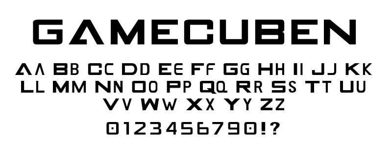 pop: Gamecuben (Nintendo Gamecube Logo) font