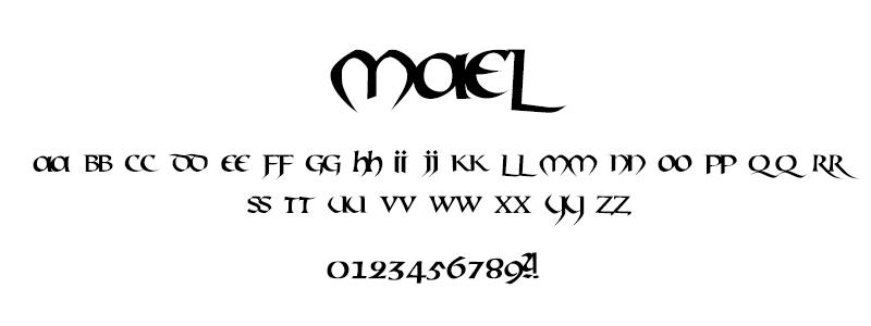 CLASSIC: Mael font