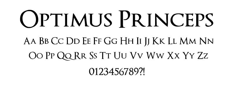 Serif: Optimus Princeps font