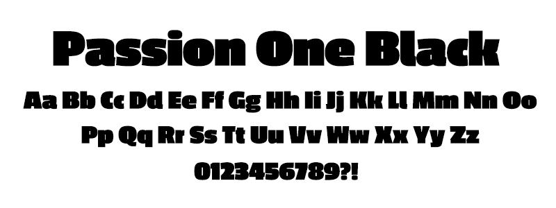 Sans: Passion One Black