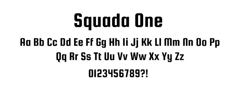 CLASSIC: Squada One font