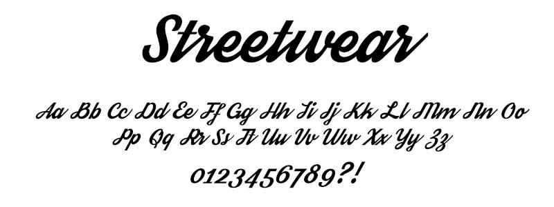 CLASSIC: Streetwear font